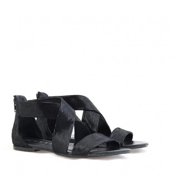 Sandały Nessi 24101 czarny lizaro