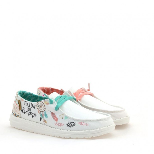 Sneakersy Hey Dude Wendy Doodle Star White