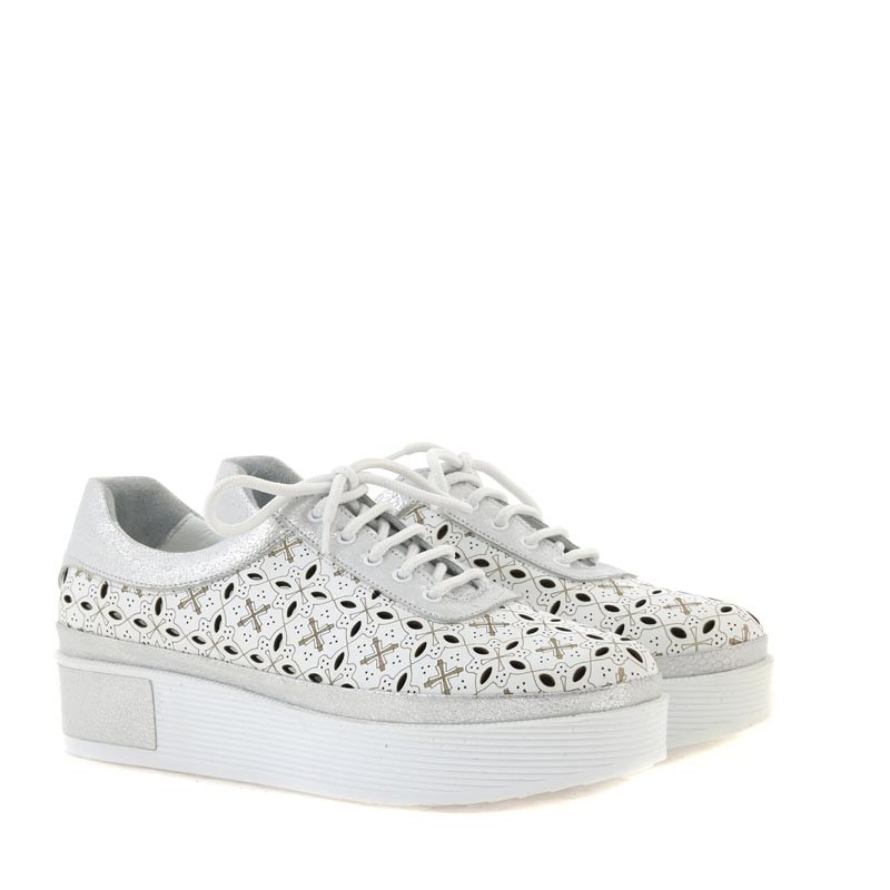 Sneakersy Venezia 51802 WHI-SIL